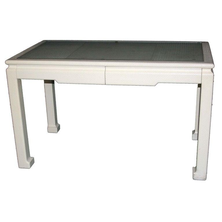 Karl Springer Leather Desk