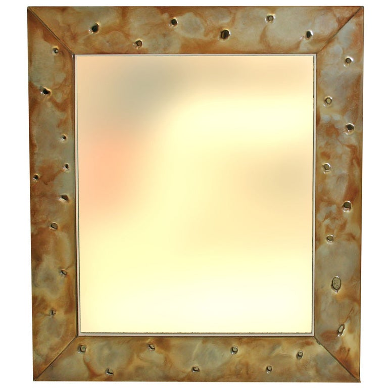 glass frame mirror at 1stdibs