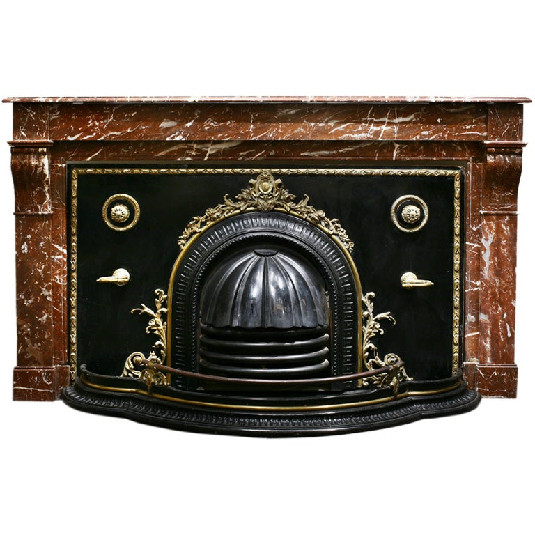 antique marble mantel with fireplace cover at 1stdibs