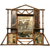 19th Century Brighton Beach Bamboo Mirror
