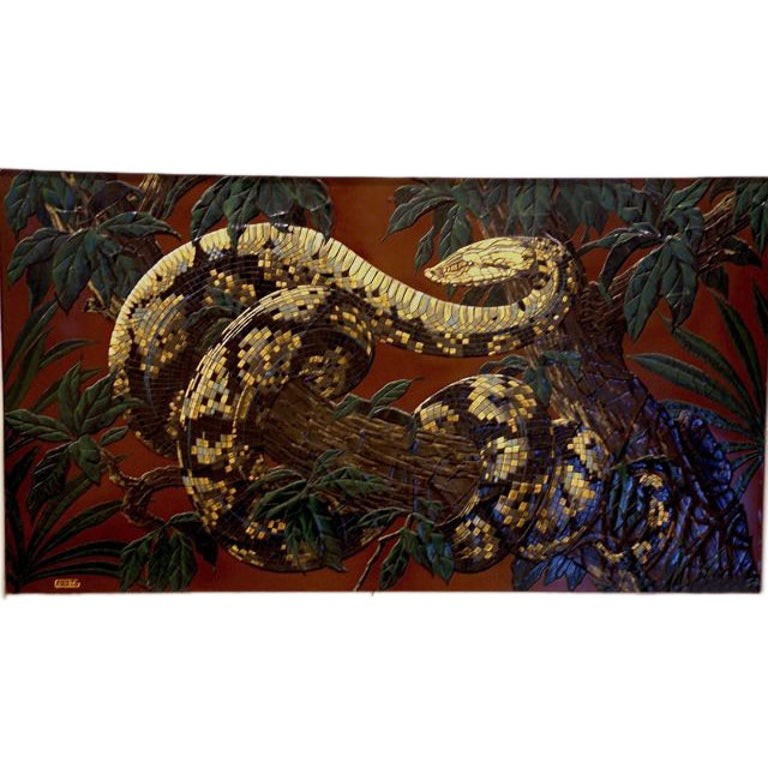 Paul Jouve Design Lacquer Panel, Executed by Godde For Sale
