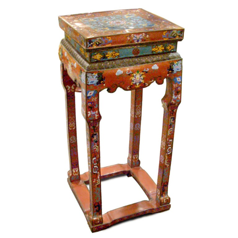 Cloisonne pedestal stand for Cloison stand