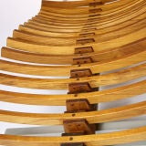 Teak Wood Chaise thumbnail 3