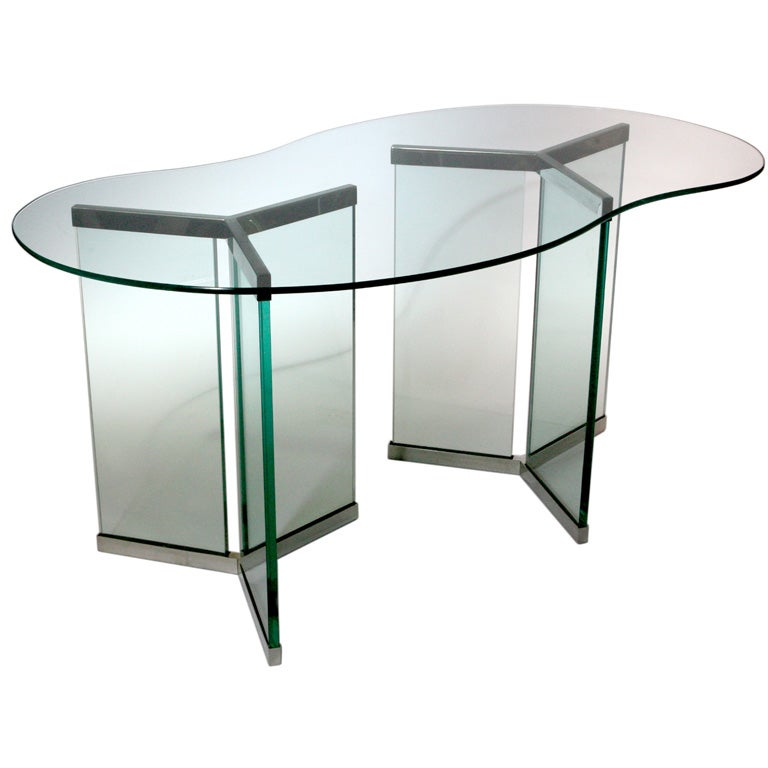 DOUBLE BASE GLASS TABLE at 1stdibs : t680 from www.1stdibs.com size 768 x 768 jpeg 38kB