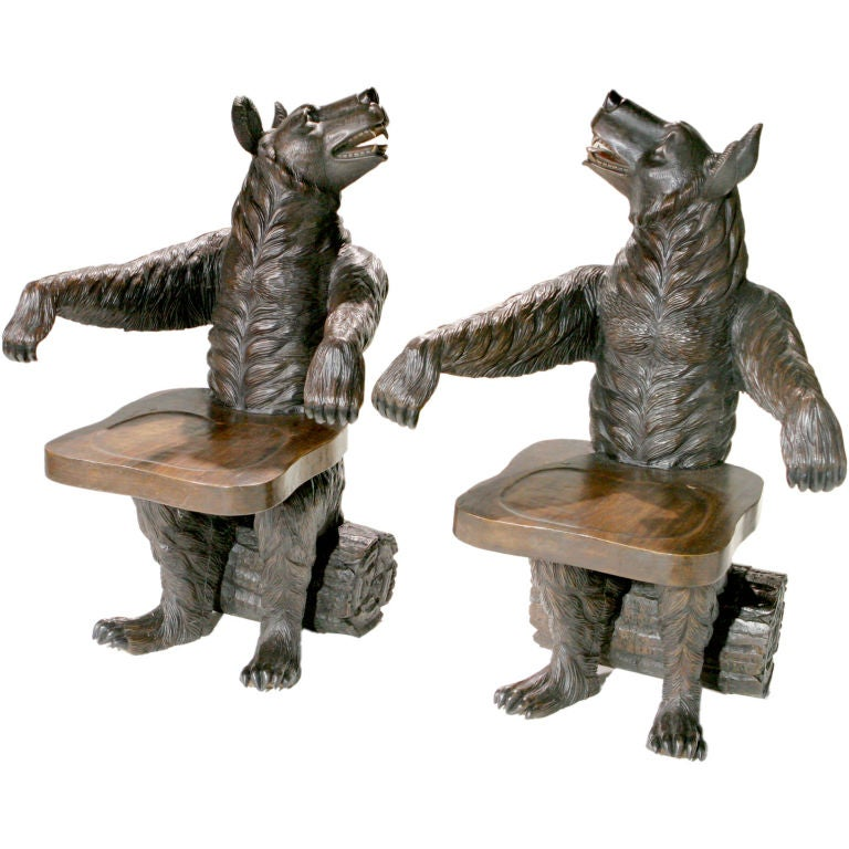 Black Forest Bear Chairs For Sale At 1stdibs