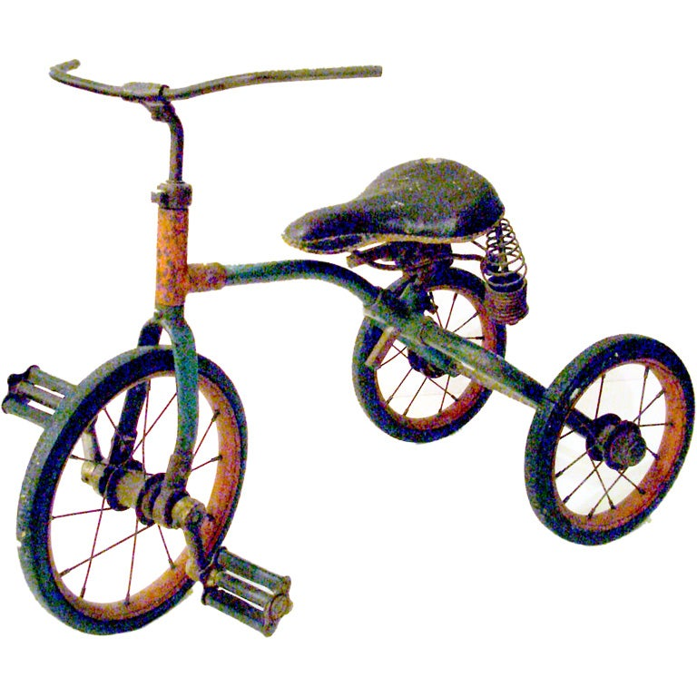 Antique Tricycle Horn : Vintage toy tricycle at stdibs