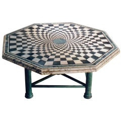 Checkerboard Marble Table