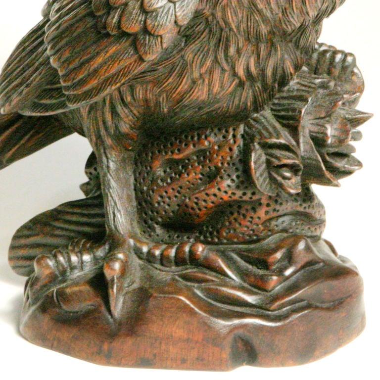Carved wood owl at stdibs