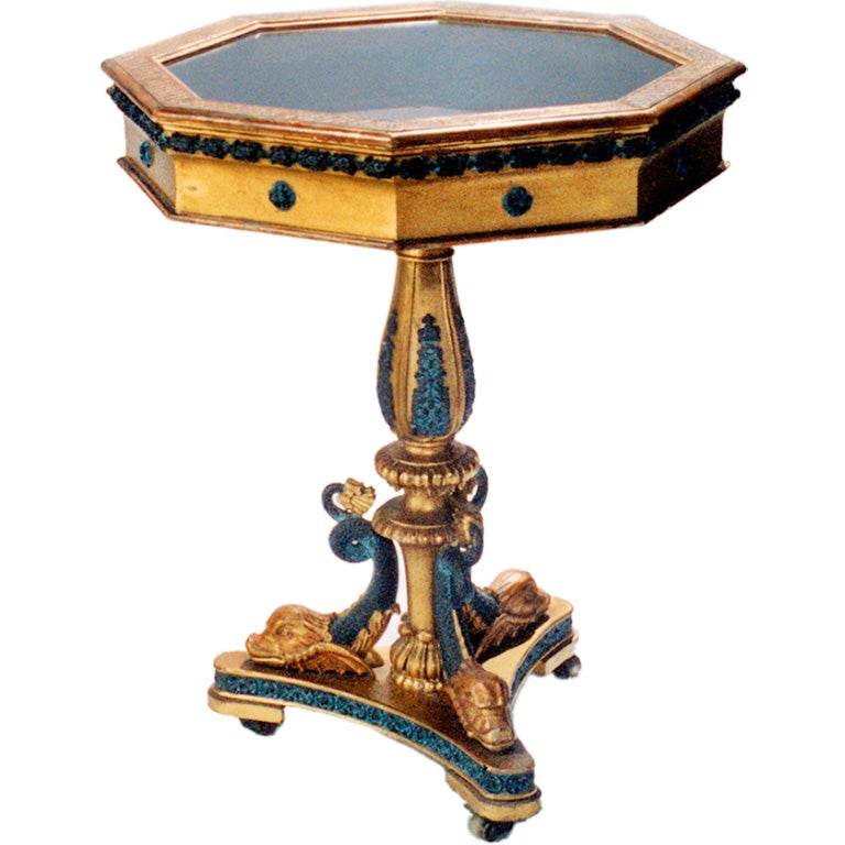 Giltwood Vitrine Table For Sale