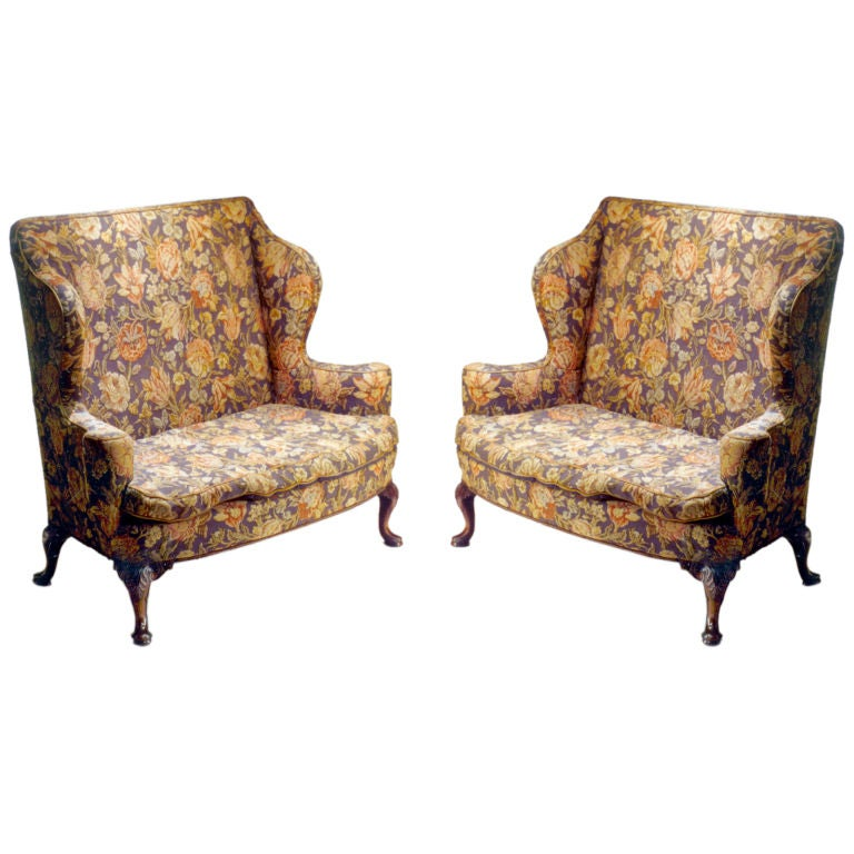 Pair of settees for sale at 1stdibs for Settees for sale