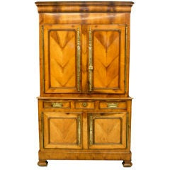 French Fruitwood Cupboard