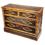 ENGLISH BAMBOO CHEST OF DRAWERS
