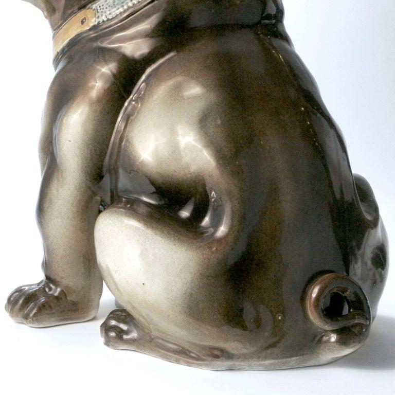 Ceramic Bulldog In Good Condition For Sale In New York, NY
