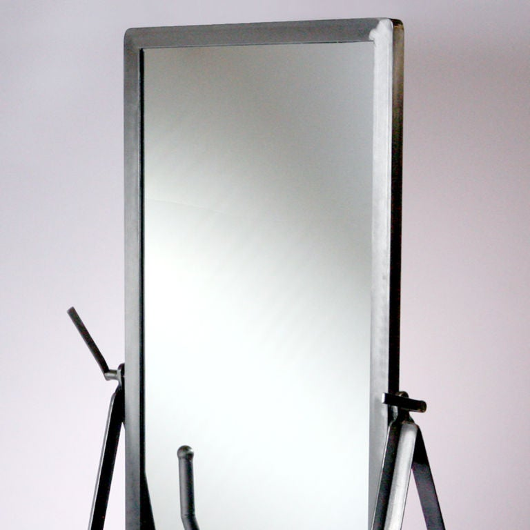 Steel mirror on wheels for sale at 1stdibs for Floor length mirror for sale