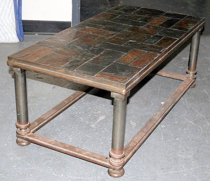 Iron And Slate Coffee Table Image 2