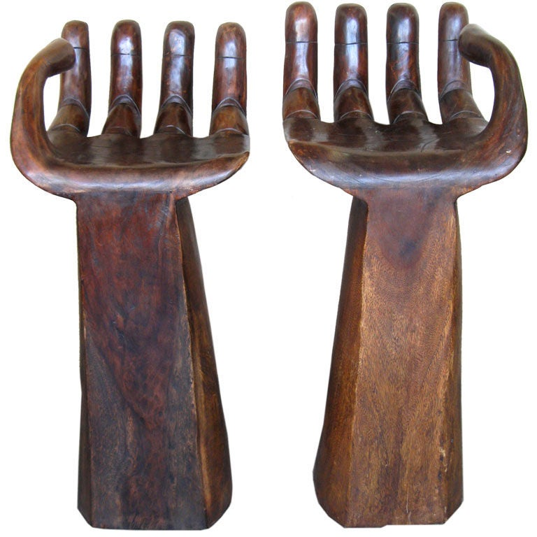 pair of carved bar stools style of pedro friedeberg at 1stdibs