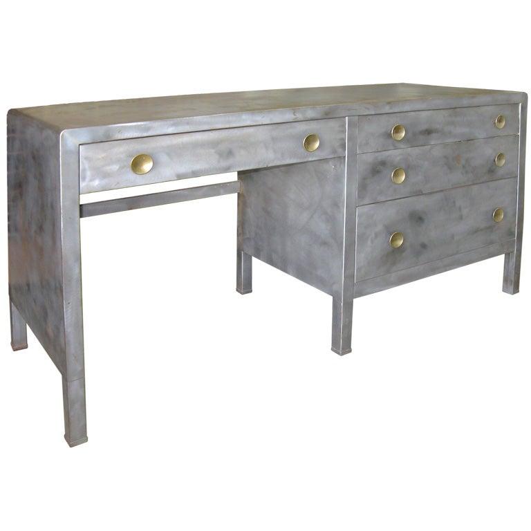 Norman Bel Geddes Art Deco Industrial Desk At 1stdibs