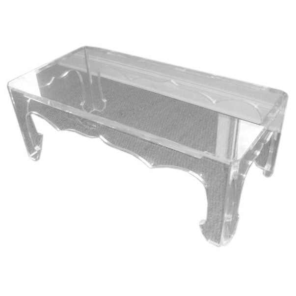 Decorative Clear Lucite Coffee Table At 1stdibs