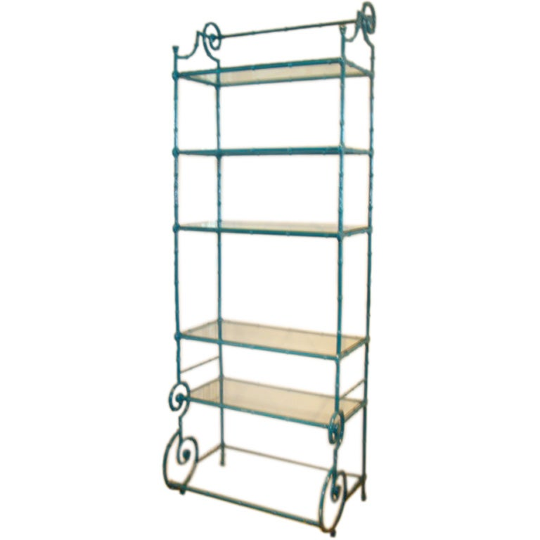Mid century brilliant blue scroll etagere at 1stdibs - Etagere cases carrees ...
