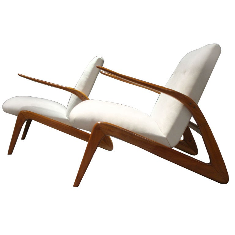 Pair Of Lounge Chairs By Alfred Hendrickx At 1stdibs