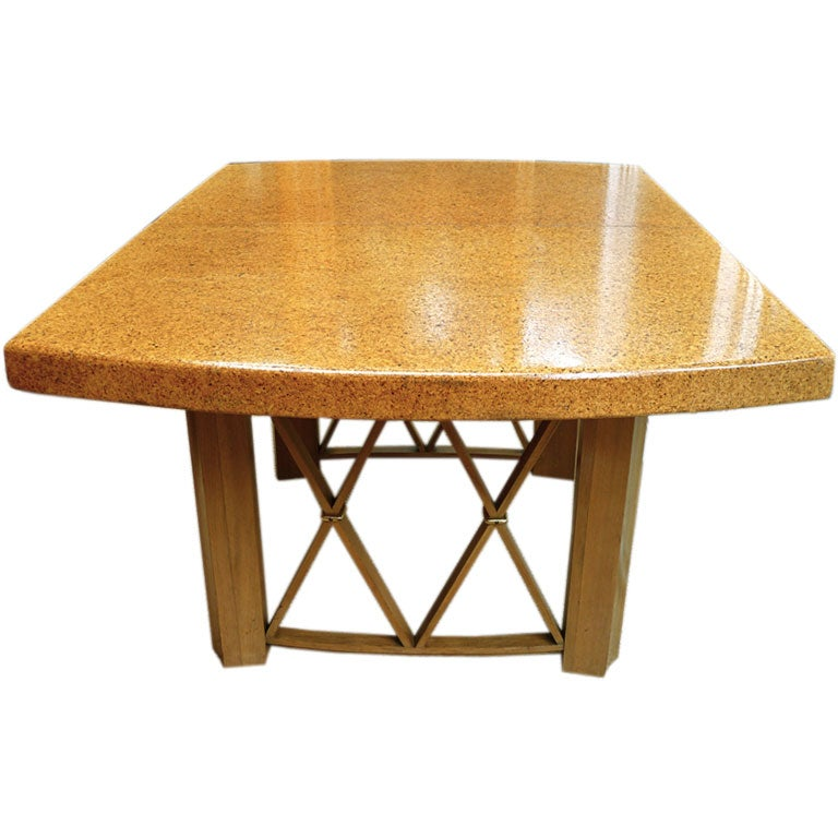 Paul Frankl Cork Top Dining Table with 2 Leaves at 1stdibs : p1000270 from 1stdibs.com size 768 x 768 jpeg 65kB