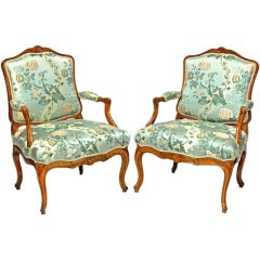 Pair of Italian Open Armchairs in the French Régence Style, circa 1730