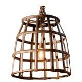 antique iron basket lantern