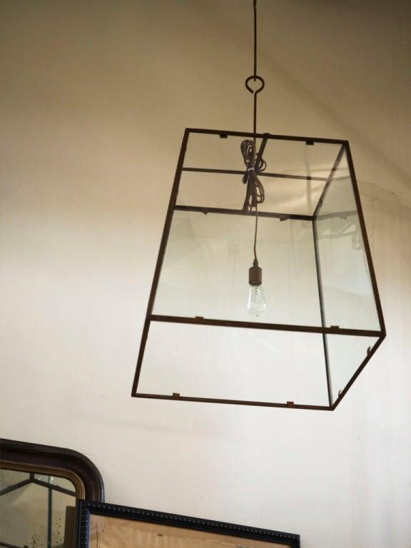Modern Large-Scale Custom Blacksmith-Made Iron and Glass