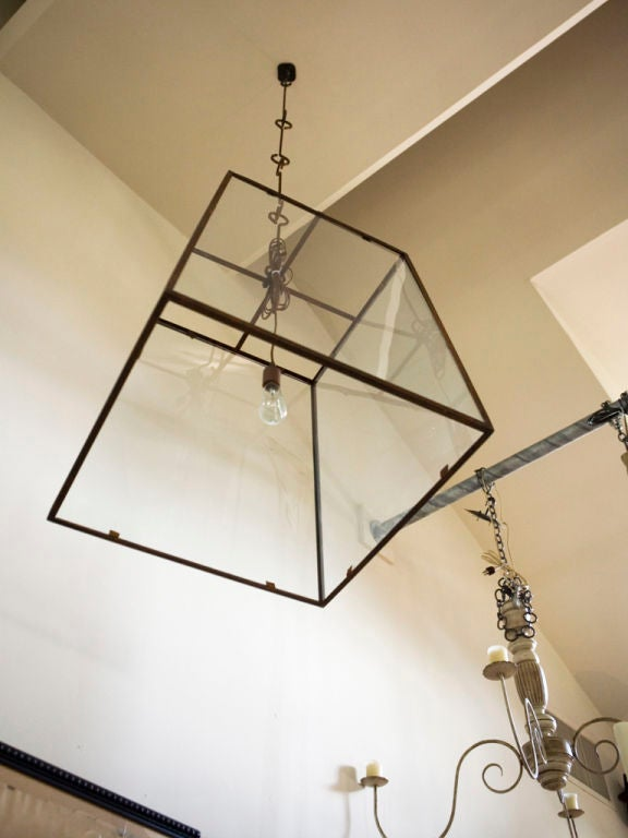 Forged Large-Scale Custom Blacksmith-Made Iron and Glass