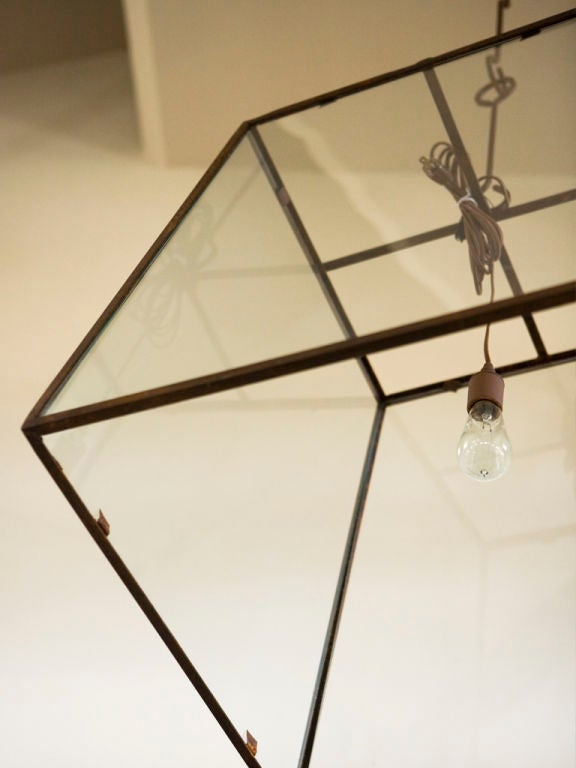 Large-Scale Custom Blacksmith-Made Iron and Glass