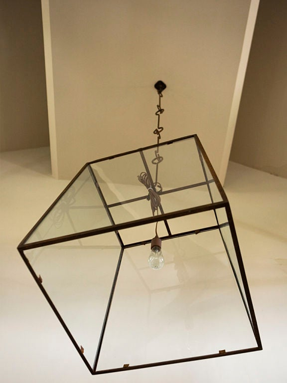 Contemporary Large-Scale Custom Blacksmith-Made Iron and Glass