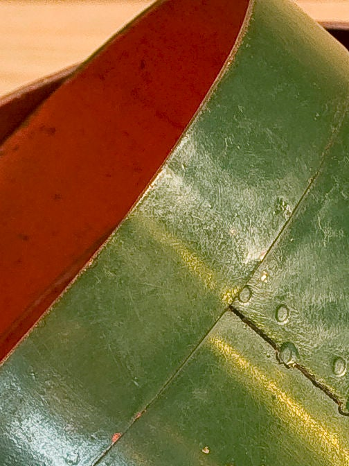 Set of Four Green and Red Vintage Belgian Measures 3