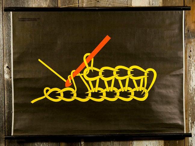 set of 7 crochet educational charts on original dowels 4