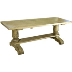 Antique Bleached Oak Coffee Table