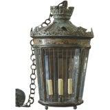 Antique copper and lead lantern