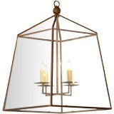 Timeless Custom-made iron and glass 4 light lantern