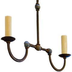"Custom Iron ""Marion"" Small Kitchen Island Chandelier"