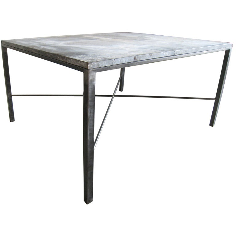 Galvanized Metal Dining Table For