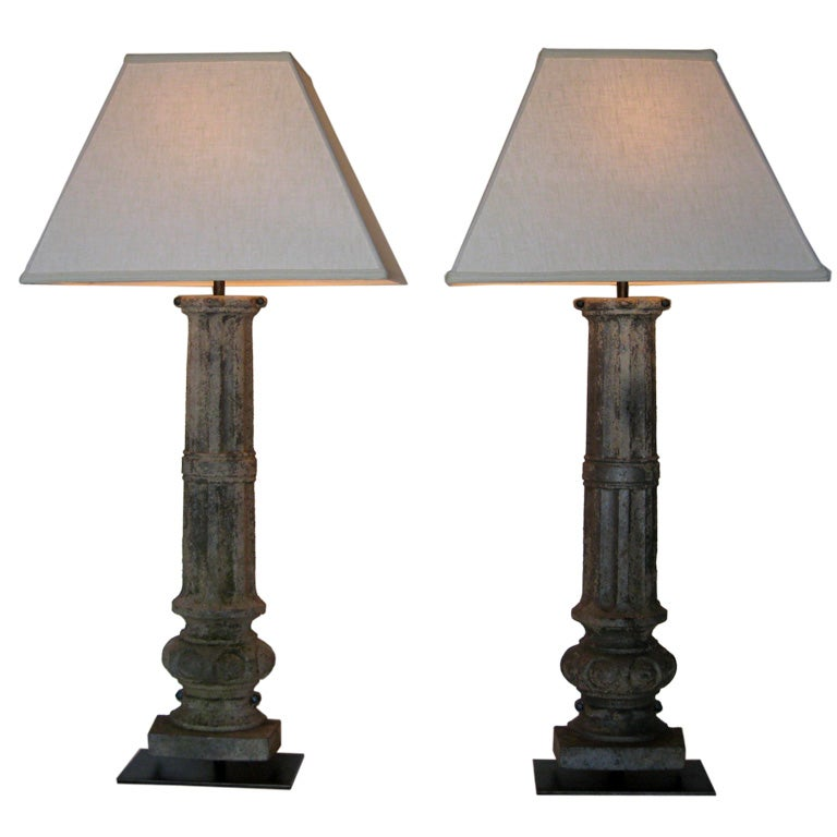 this pair of column table lamps is no longer available. Black Bedroom Furniture Sets. Home Design Ideas