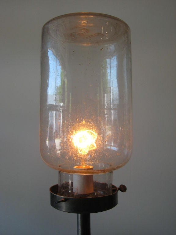 Jar floor lamp at 1stdibs for Glass jar floor lamp