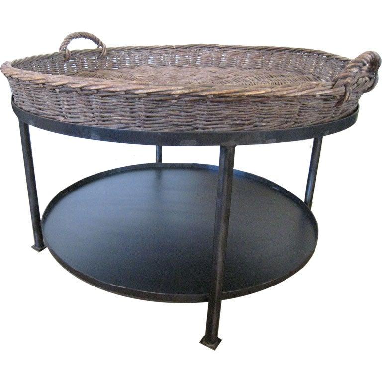 Basket Top Coffee Table At 1stdibs