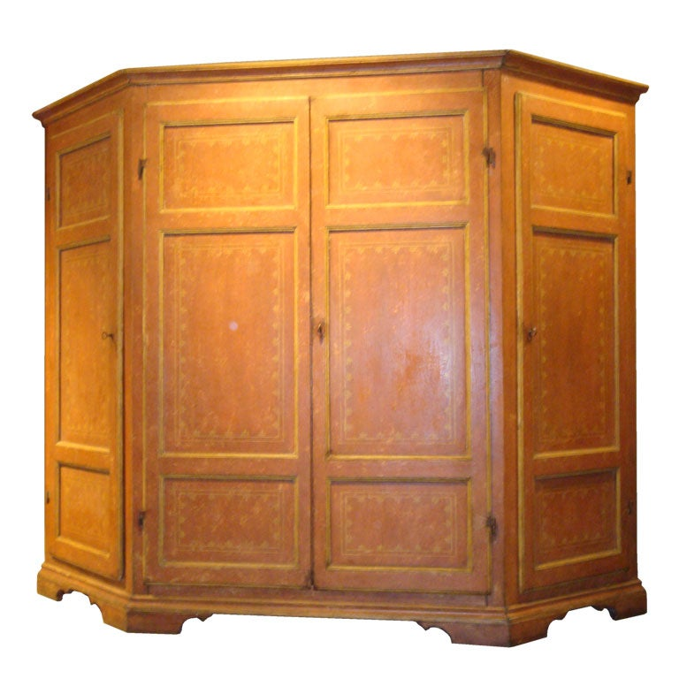 18th C Painted Italian Armoire At 1stdibs