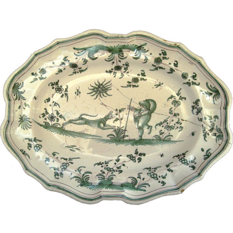 18th Century Moustier Platter At 1stdibs