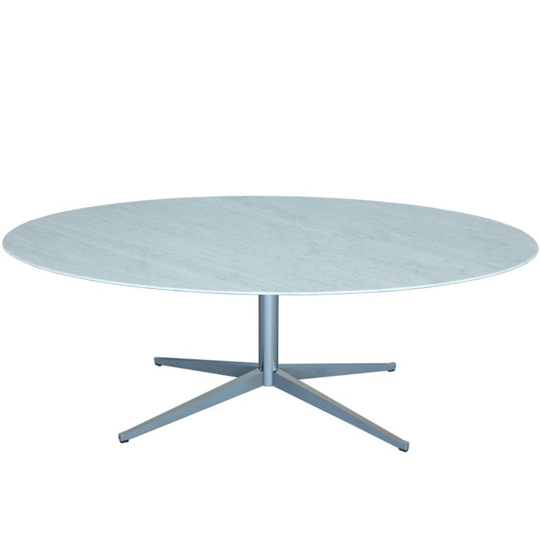 Florence Knoll Oval Marble Top Table At 1stdibs