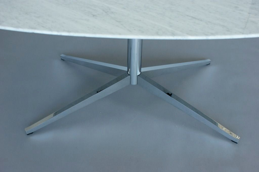 Florence Knoll Oval Marble Top Table 3