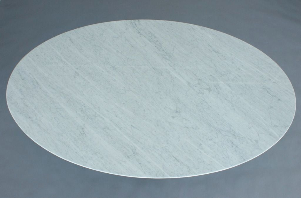 Florence Knoll Oval Marble Top Table 2