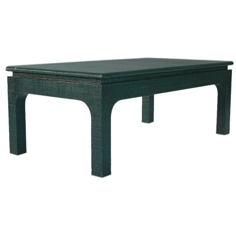 Grass Cloth Coffee Table At 1stdibs