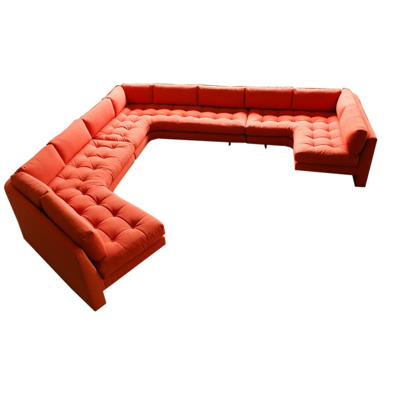 Vladimir Kagan three piece Omibus sofa sectional For Sale