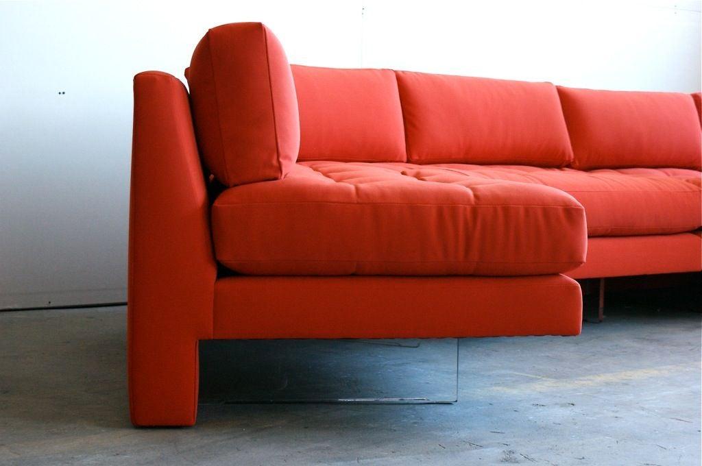 Vladimir Kagan three piece Omibus sofa sectional For Sale 1