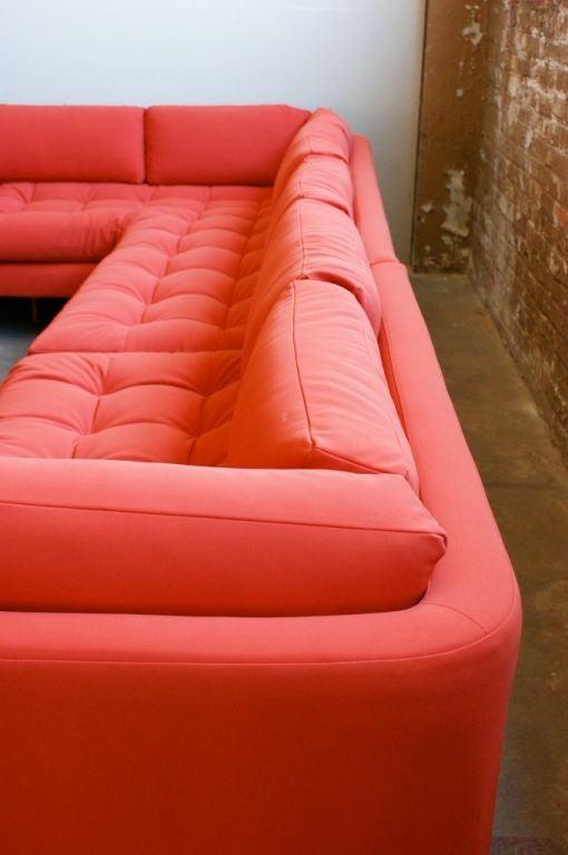 Late 20th Century Vladimir Kagan three piece Omibus sofa sectional For Sale